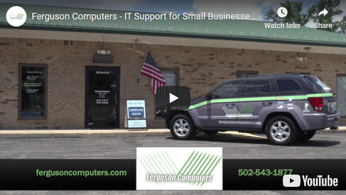 """YouTube video cover for """"Ferguson Computers - IT Support for Small Businesses"""""""