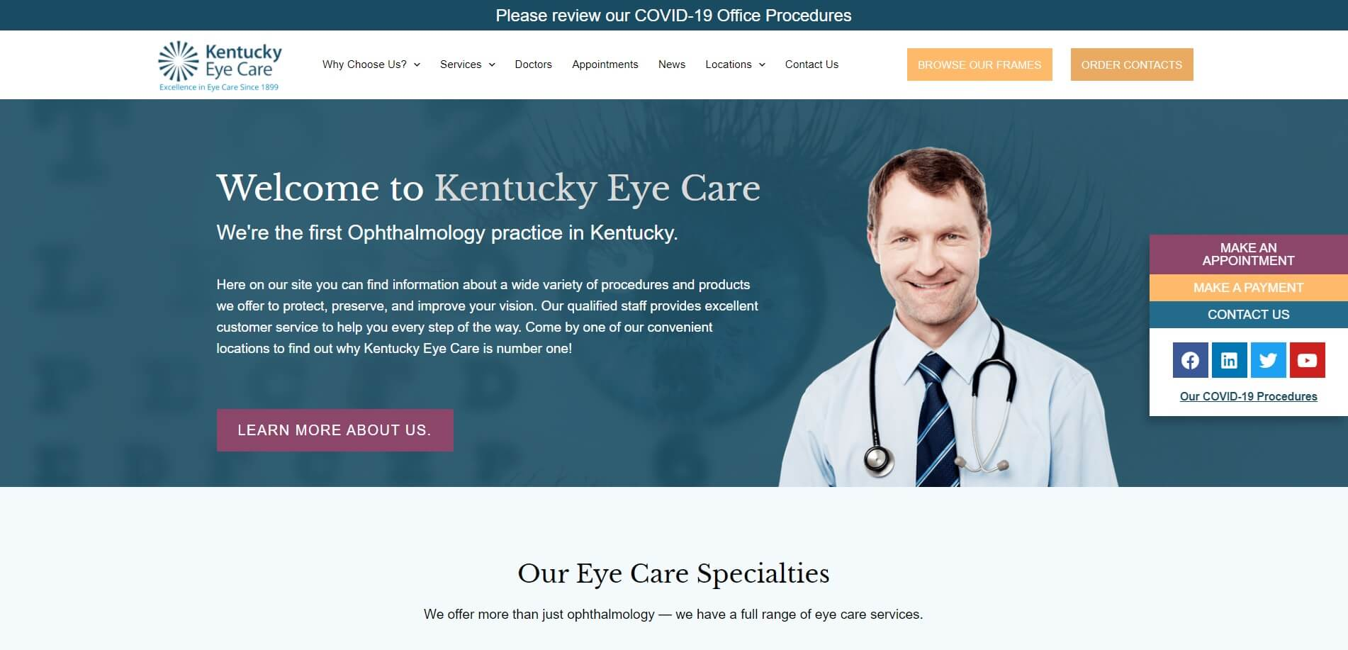 kentuckyeyecare.com Homepage