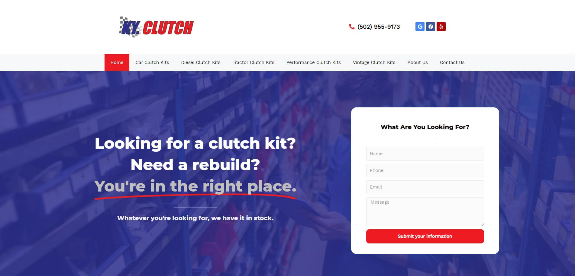 kyclutch.com Homepage