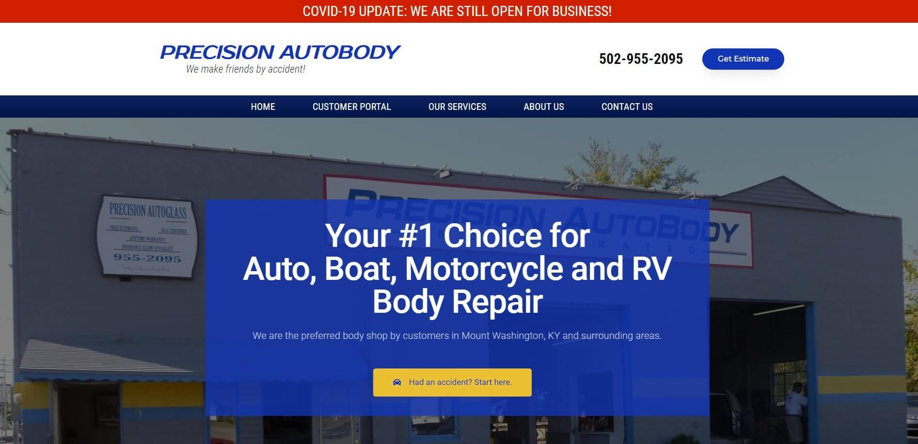 precisionmtw.com Homepage
