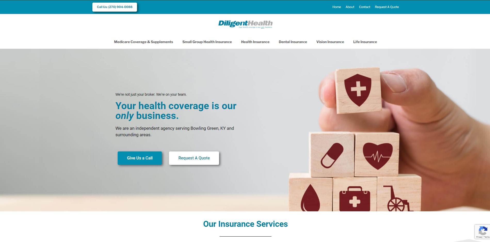 diligenthealth.com Homepage