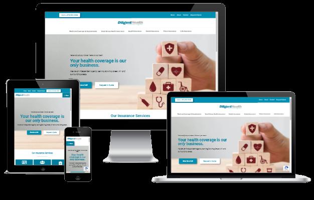 diligenthealth.com Responsive Design Examples